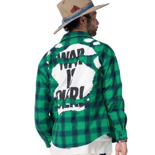 グラム(glamb)のglamb ダメージ加工 チェックシャツ(シャツ)