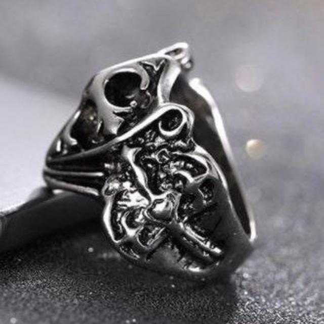クロス モチーフ リング 指輪 ユニセックス シルバー レディースのアクセサリー(リング(指輪))の商品写真