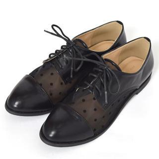 ダブルクローゼット(w closet)のドット シースルーシューズ(ローファー/革靴)
