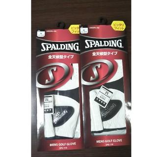 スポルディング(SPALDING)の新品未開封品 SPALDING ゴルフグローブ Mサイズ全天候型スポルディング(その他)