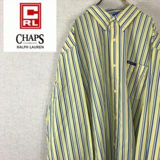 チャップス(CHAPS)のCHAPS RALPH LAUREN 長袖 シャツ ストライプ ビッグサイズ(シャツ)