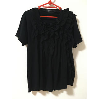 ゴム(gomme)のgomme ゴム★タックシャーリングT(黒)(Tシャツ(半袖/袖なし))