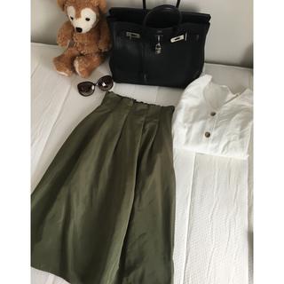 コルザ(COLZA)のコルザ   カーキ スカート   タイムセールお値下げ中(ひざ丈スカート)