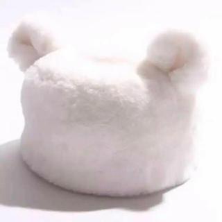ウィゴー(WEGO)のWEGO 耳付きファーキャップ 白(キャップ)
