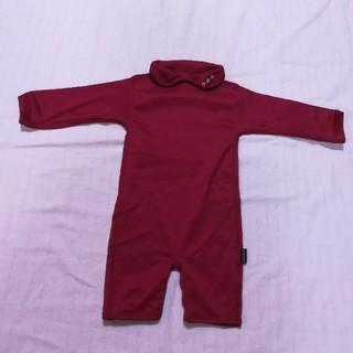 アンナニコラ(Anna Nicola)の日本製 襟つきシルキーカバーオール ロンパース(カバーオール)