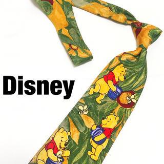 ディズニー(Disney)の【廃盤】ディズニー ぷーさん イラスト ネクタイ シルク 剣幅10 イタリア製(ネクタイ)