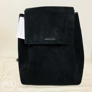 チャールズアンドキース(Charles and Keith)のCHARLES&KEITH フロントフラップショルダーバッグ/black bag(ショルダーバッグ)