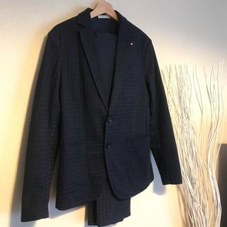 ザラ(ZARA)のZARA スーツ セットアップ ジャケット パンツ ネイビー(セットアップ)