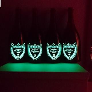 ドンペリニヨン(Dom Pérignon)の光るドンペリルミナス空瓶4本set!(シャンパン/スパークリングワイン)