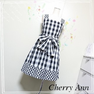チェリーアン(cherry Ann)の【新品タグ付き】Cherry Ann♡ギンガムチェックワンピース(ひざ丈ワンピース)