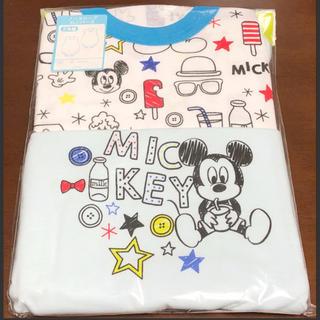 ディズニー(Disney)の【新品】ベビーミッキー ノースリーブロンパース肌着2枚組ベビー用品 ディズニー(肌着/下着)