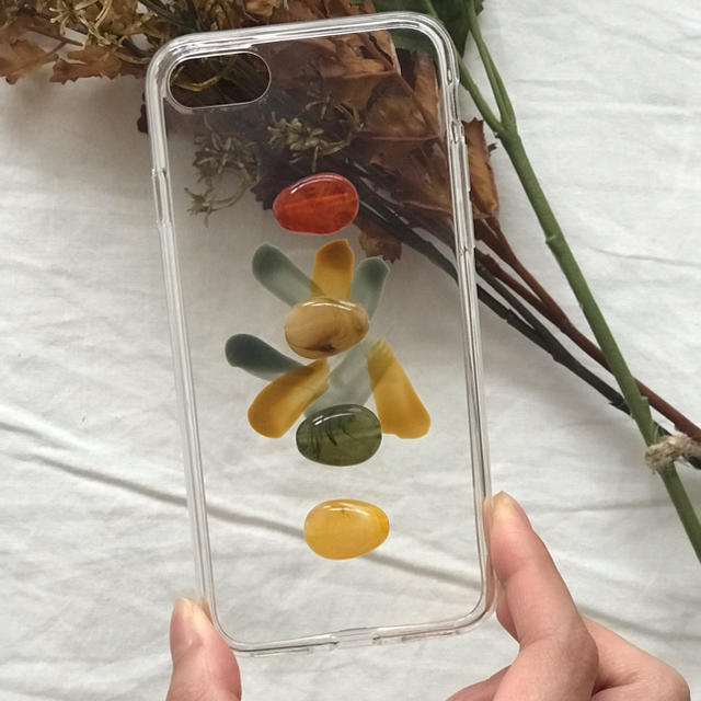 不二家 iPhone8 ケース 革製 / Kastane - marble retro iPhone case handmadeの通販 by Natary'.. shop|カスタネならラクマ