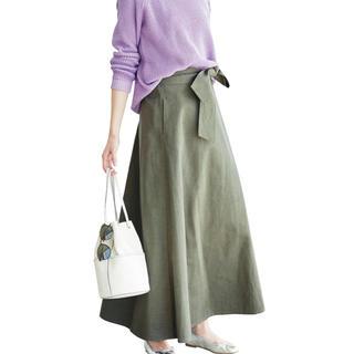 ハコ(haco!)のIEDIT フレアーラインがドラマティックなマキシスカート(ロングスカート)