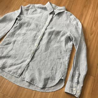 ムジルシリョウヒン(MUJI (無印良品))の無印良品 レディース リネンストライプシャツ(シャツ/ブラウス(長袖/七分))