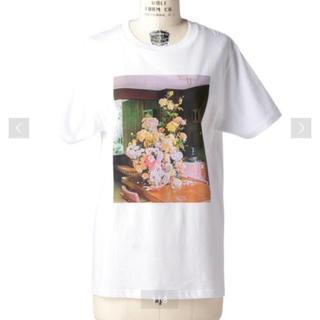 ドゥロワー(Drawer)のfjura☆フラワーTシャツ(Tシャツ(半袖/袖なし))
