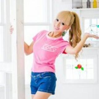 ココ(Coco)の⭐cocoアイリ ピンク ロゴ 半袖Tシャツ⭐(Tシャツ(半袖/袖なし))