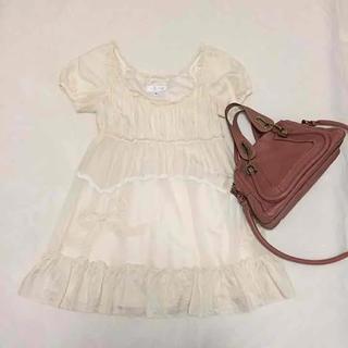 JILLSTUART - JILL STUART♡チュールレースホワイトワンピース♡ジルスチュアートドレス