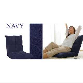 ネイビー/座椅子/低反発/もっちり/42段階調整/コンパクト(ロッキングチェア)
