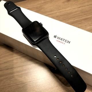 アップルウォッチ(Apple Watch)のAppleWatch Series 3 スペースグレイ 42mm(腕時計(デジタル))