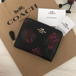 f7c68223e920 コーチ(COACH)の限定品 新品 COACH コーチ 財布 ブラック フローラル(財布)