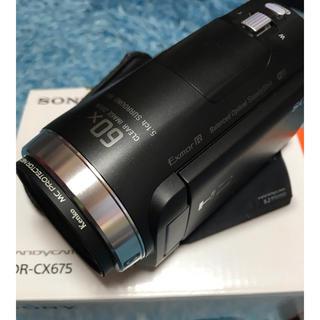 ソニー(SONY)のソニー ハンディカム  使用はごく僅か美品HDR-CX675(ビデオカメラ)