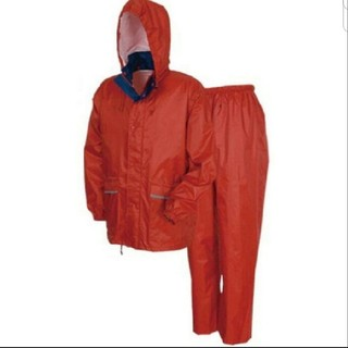 軽量・透湿 レインスーツ Mサイズ オーロラレッド カッパ 上下(レインコート)