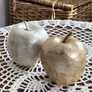 アクタス(ACTUS)のACTUS リンゴ置物2個セット(置物)