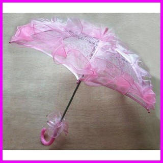 ■新品■レース ふりふり傘 ピンク 5860120(傘)