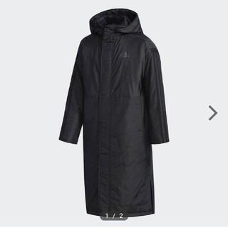 アディダス(adidas)の新作 アディダス ベンチコート 130 ブラック(コート)