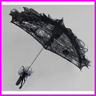 ■新品■レース ふりふり傘 ブラック 5860120(傘)