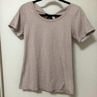 シーバイクロエ(SEE BY CHLOE)のSee By Chloe  Tシャツ グレージュ リボン(Tシャツ(半袖/袖なし))