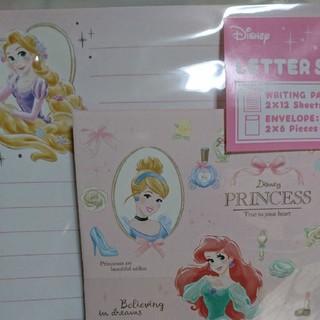 ディズニー(Disney)のディズニー  プリンセスレターセット(カード/レター/ラッピング)