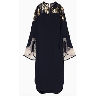mame - mame2019SS*Silk Lame Print I-Line Dress