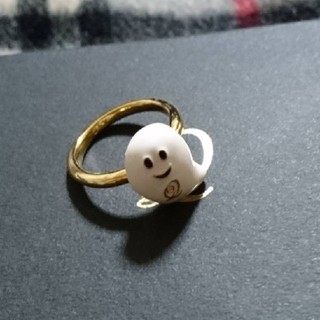キューポット(Q-pot.)のQ-pot.プチベビーゴーストリング 9号 完売 付属品なし(リング(指輪))