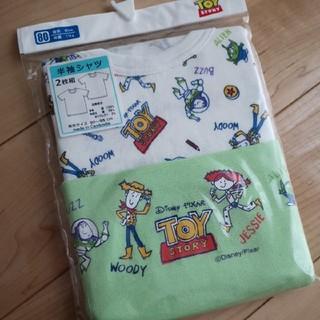 ディズニー(Disney)の新品 トイストーリー 肌着 半袖 80 Tシャツ(肌着/下着)