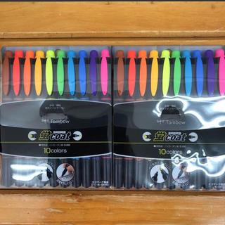 トンボエンピツ(トンボ鉛筆)の蛍光ペン  トンボ 2個セット(ペン/マーカー)