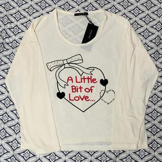 イング(INGNI)のイング  新品 カットソー  長袖 Tシャツ オフホワイト パール 大きいサイズ(Tシャツ/カットソー)