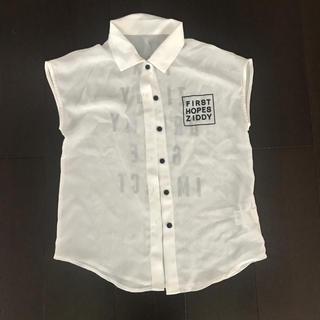 ジディー(ZIDDY)のziddy 透け感あり ノースリーブ 160 未使用(Tシャツ/カットソー)
