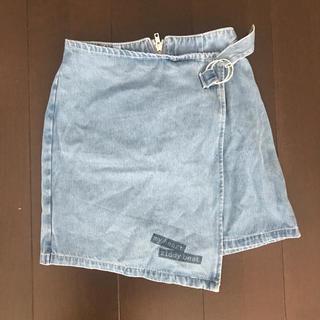 ジディー(ZIDDY)のziddy 巻き スカート ラップ デニム 160(スカート)