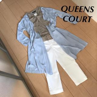 クイーンズコート(QUEENS COURT)のQUEENS COURT 新品 ボウタイシフォンシャツ(シャツ/ブラウス(長袖/七分))
