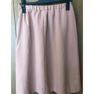 イネド(INED)のコーラルピンク色スカート(ひざ丈スカート)