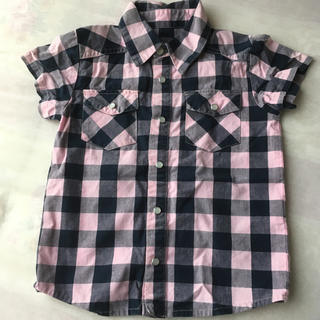 スキップランド(Skip Land)のSKIP LAND☆ 100 ☆半袖シャツ チェックシャツ(Tシャツ/カットソー)