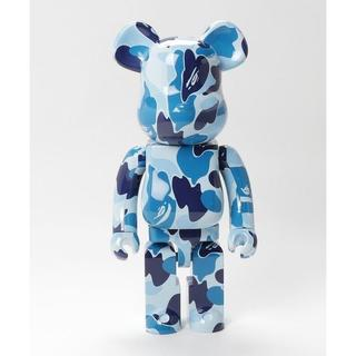 A BATHING APE - BE@RBRICK ABC CAMO 1000% BLUE ブルー ベアブリック