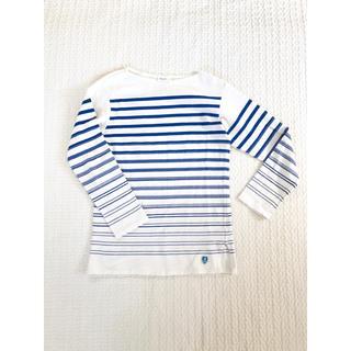 オーシバル(ORCIVAL)のオーシバル■ブルー×白 ランダムボーダートップス 2(カットソー(長袖/七分))