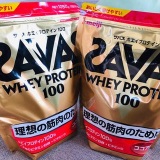 ザバス(SAVAS)のSAVAS ホエイプロテイン100 50食分 ココア(プロテイン)