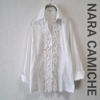 ナラカミーチェ(NARACAMICIE)のNARA CAMICHE フリルシャツ(シャツ/ブラウス(長袖/七分))