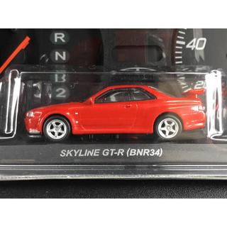 ニッサン(日産)の京商 1/64 スカイライン&GT-R スカイライン GT-R R34 レッド(ミニカー)