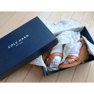 コールハーン(Cole Haan)の【新品未使用品】COLEHAANウエッジサンダル コールハーン(サンダル)