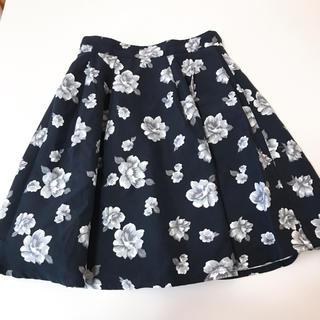 コルザ(COLZA)の膝丈花柄スカート(ひざ丈スカート)