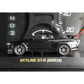 ニッサン(日産)の京商 1/64 日産 スカイライン GT-R BNR34 黒 ブラック(ミニカー)